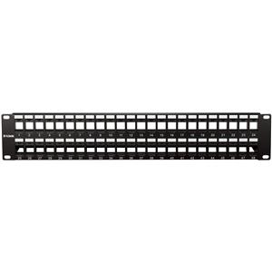 D-Link NPP-AL1BLK481 Cat5E & Cat6 Keystone 48 Port Patch Panel